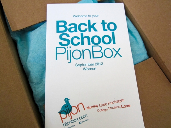 pijon box back to school september