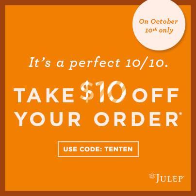 Julep Maven $10 off coupon