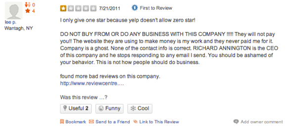 Bondi New York Yelp Review