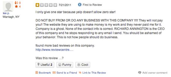 Bondi New York Yelp Review