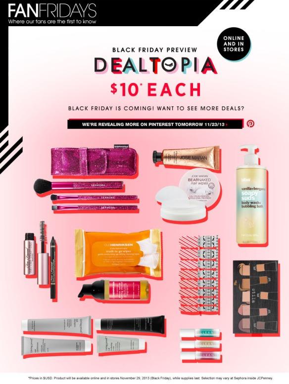 Sephora Black Friday 2013 Sneak Peek Facebook