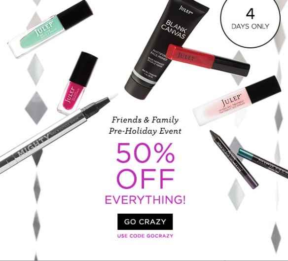 Julep 50% off friends and family sale