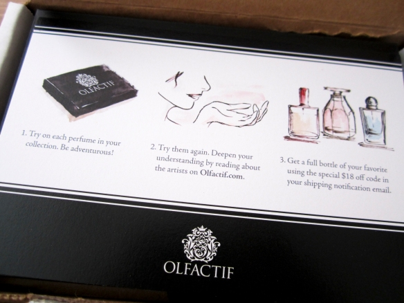 Olfactif December 2013 Perfume Subscription Review