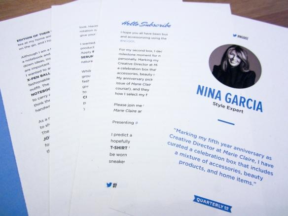 Nina Garcia Quarterly Co. #NGQ02 Box Review