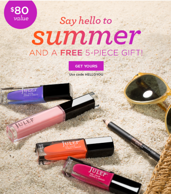 Julep Gift with Purchase Promo Code Plus New Free Box Offer
