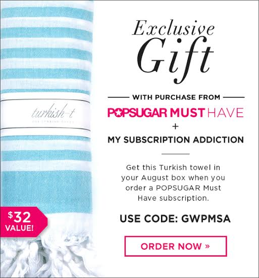 Gift With Purchase Promo Code for August 2014 POPSUGAR Must Have Box!