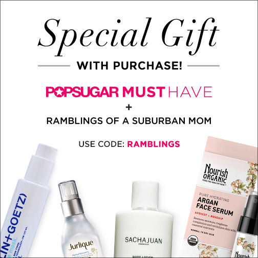 Gift With Purchase Promo Code for September 2014 POPSUGAR Must Have Box!