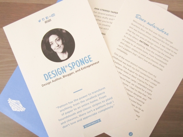 Design Sponge Quarterly Co. #DSQ02 Box Review