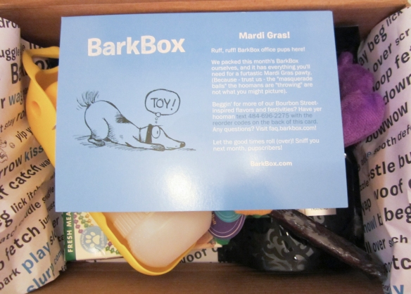 Barkbox February 2015 Review plus 10% Off Coupon Code