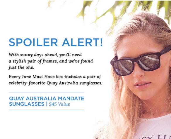 POPSUGAR Must Have Gift With Purchase Coupon plus June 2015 Spoiler!