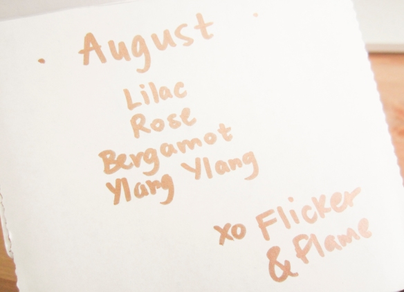 Flicker & Flame August 2015 Subscription Box Review
