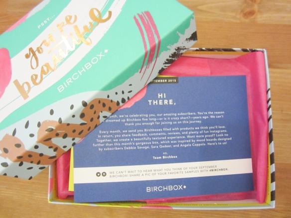 Birchbox September 2015 Review plus October 2015 Sample Options