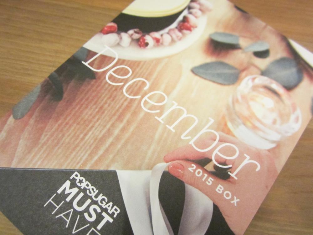 POPSUGAR Must Have December 2015 Box Review