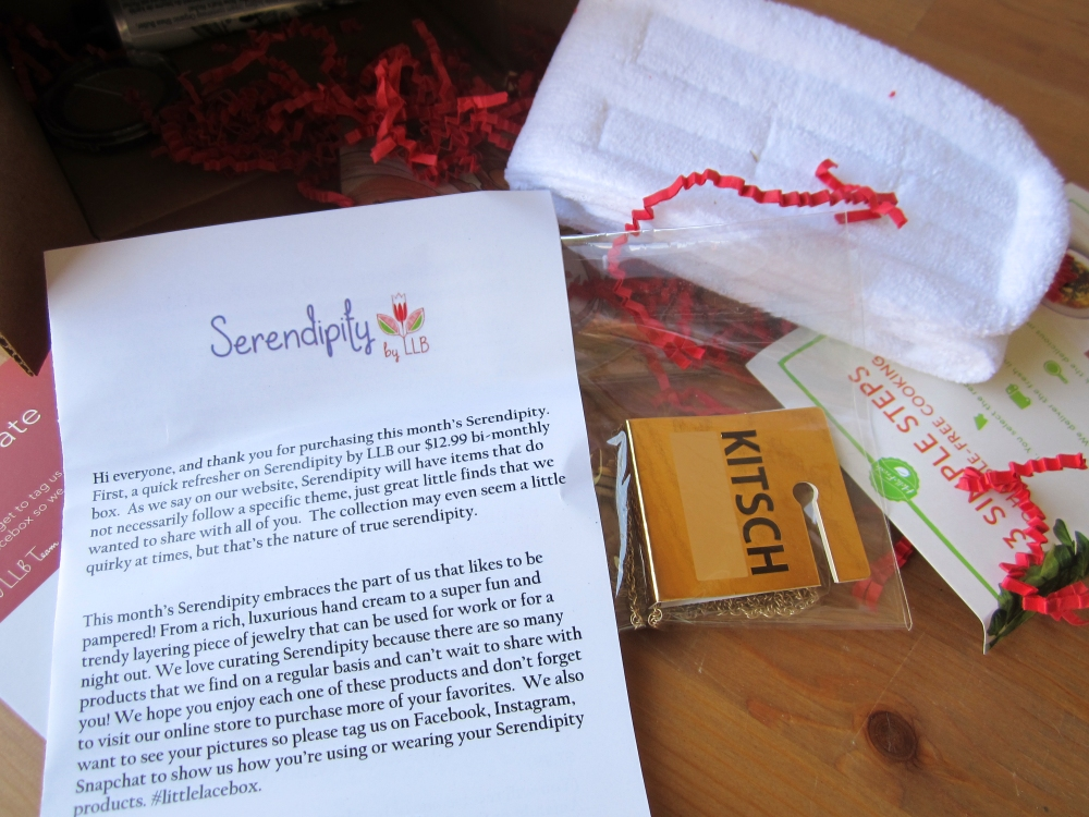 Serendipity by Little Lace Box July 2016 Box Review